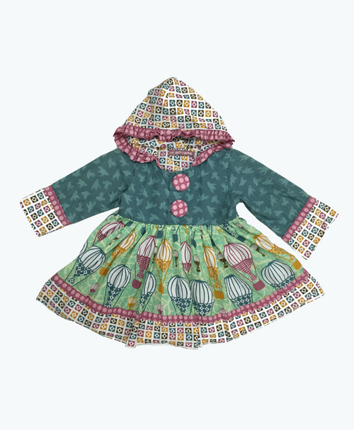 SOLD - Multicolor Hooded Dress