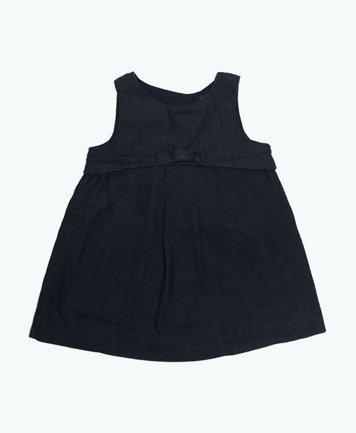 SOLD - Bow Dark Denim Dress