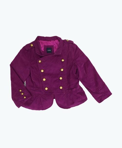 Purple Peplum Blazer, Toddler Girls