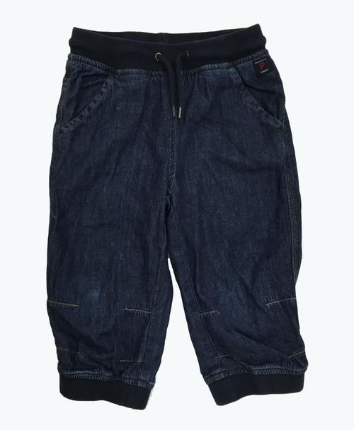 Chambray Cropped Pants, Little Girls