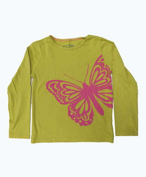 Butterfly Graphic Tee, Little Girls