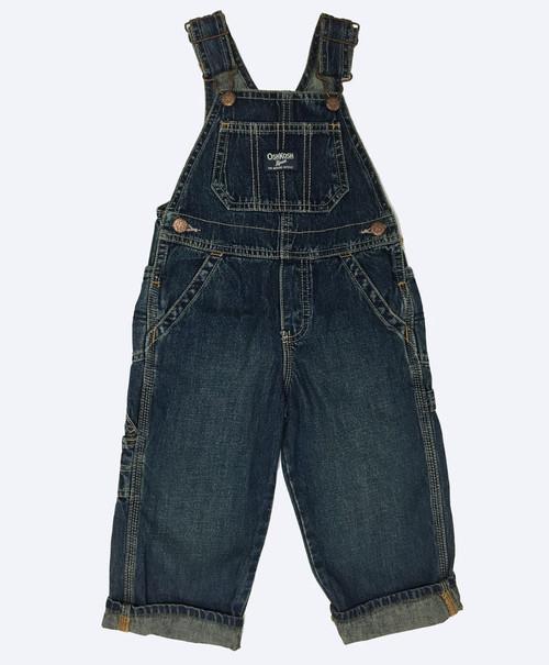 Dark Denim Overalls, Toddler Boys