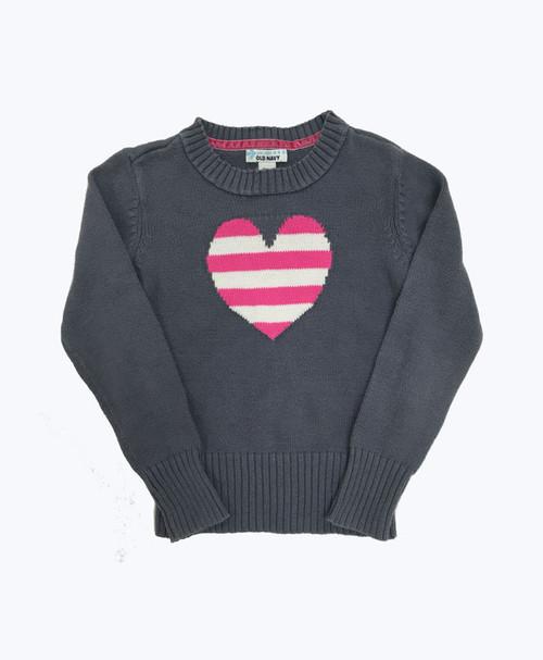 Heart Crew Neck Sweater, Little Girls