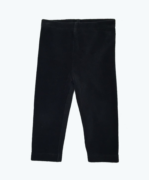 Black Corduroy Leggings, Baby Girls
