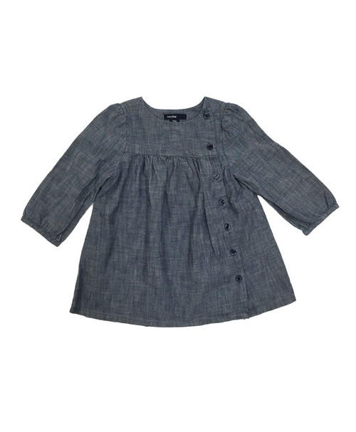 Chambray Long Sleeve Dress