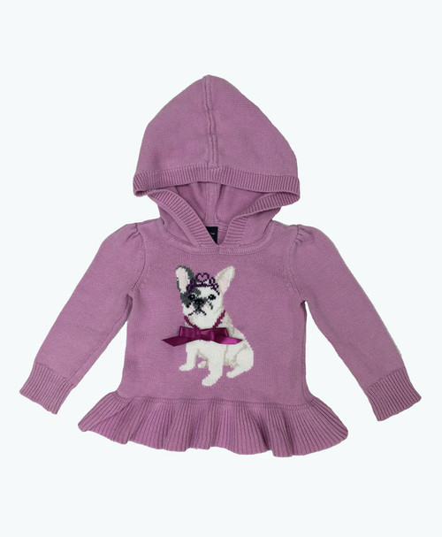 Puppy Hooded Sweater, Baby Girls