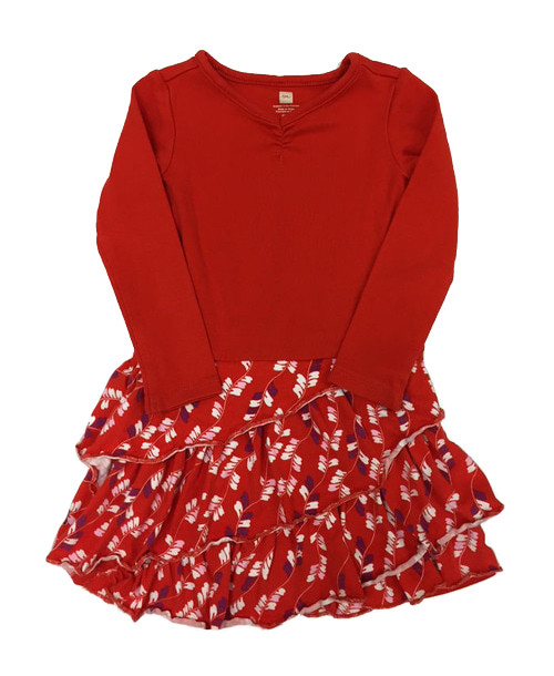 Red Ruffle Dress, Toddler Girl
