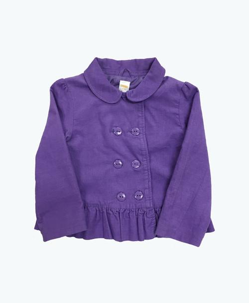 Lilac Corduroy Peplum Jacket, Toddler Girls