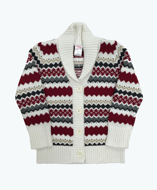 Fair Isle Shawl Cardigan, Toddler Girls