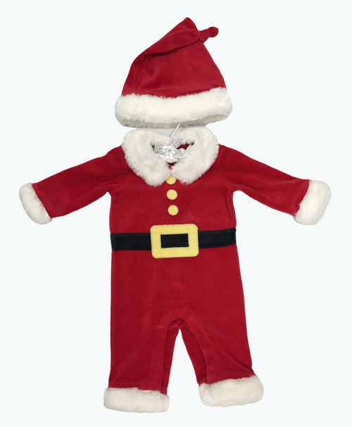 Faux Fur Santa 2-PC Suit, Baby Boys