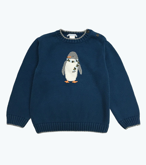 Teal Polar Penguin Sweater