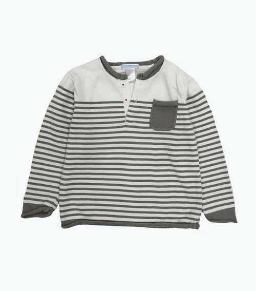 Gray Striped Sweater, Toddler Boys