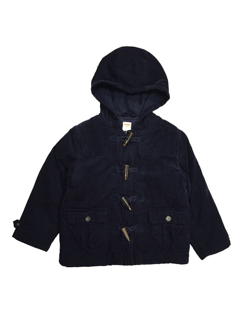 Dark Navy Corduroy Toggle Jacket, Toddler Boys
