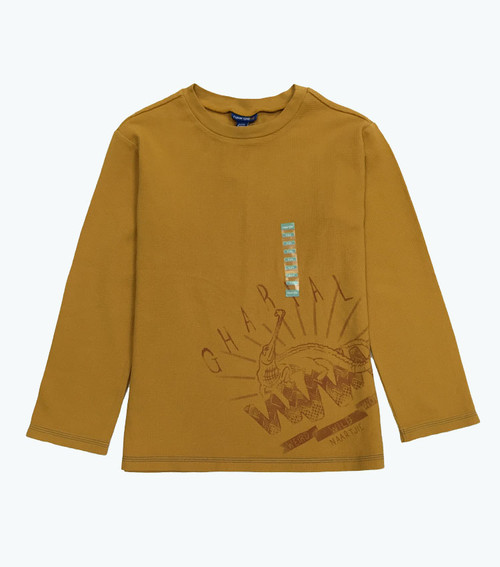Gold Thermal Lizard Tee, Big Boys