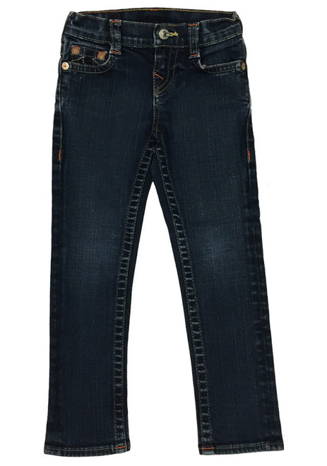 'Stella' Dark Denim Jeans, Little Girls