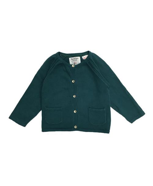 SOLD - Basil Green Pocket Cardigan