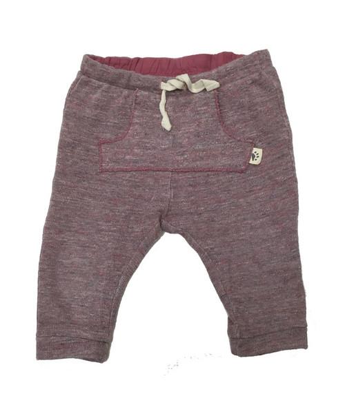 Mauve Ribbed Pants, Baby Girls