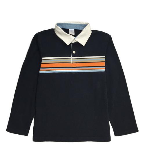 Navy Long Sleeve Polo Shirt, Little Boys