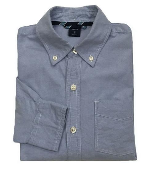 Blue Oxford Button-Down Shirt, Big Boys