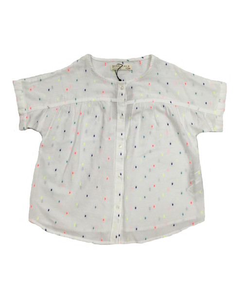 White Confetti Blouse, Little Girls