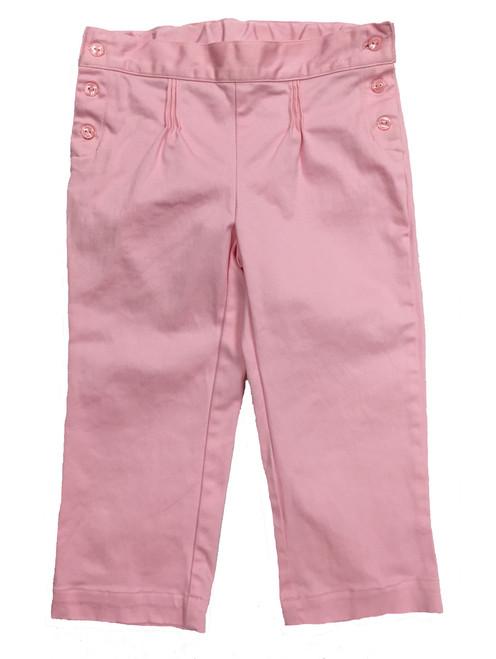 Pastel Pink Capri Pants, Little Girls