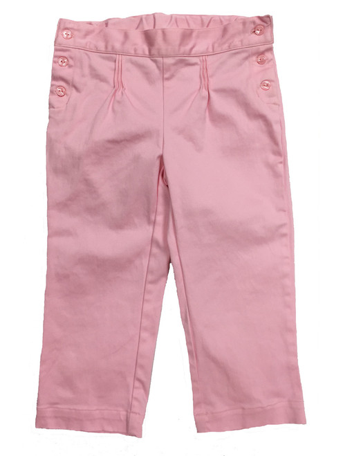 Pastel Pink Capri Pants, Little Girls
