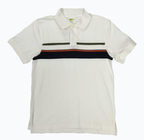 White Stripes Polo Shirt, Big Boys