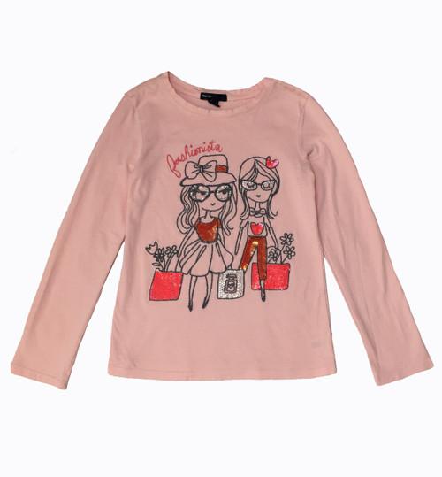 Sequin & Rhinestone Graphic Tee Shirt, Big Girls