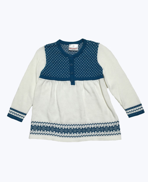 Snowflakes Nordic Sweater Tunic, Toddler Girls