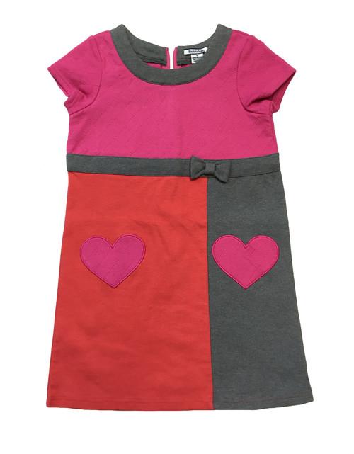 Rose Azalea Color Block Heart Dress