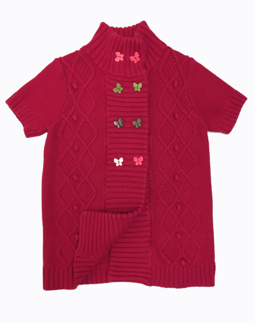 Red Butterfly Cardigan, Little Girls