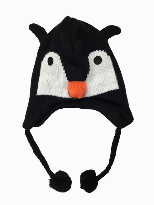 Cozy Critter Hat - Penguin
