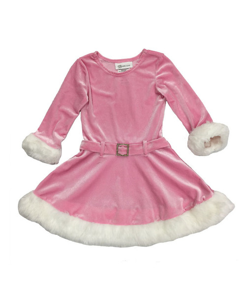 Sparkly Pink Santa Dress, Toddler/Little Girls