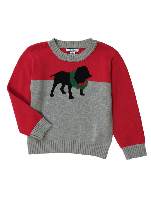 Puppy Holiday Pullover Sweater, Little Boys