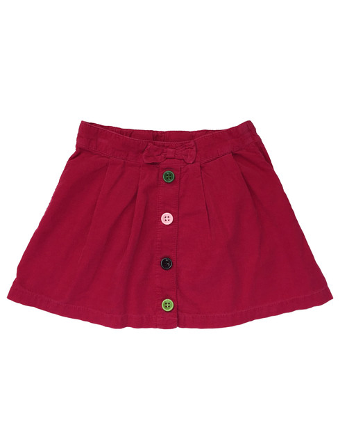 Buttons & Bow Corduroy Skirt, Little Girls