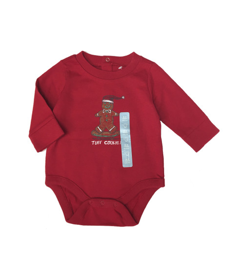 Red Gingerbread Man Bodysuit, Baby Boys