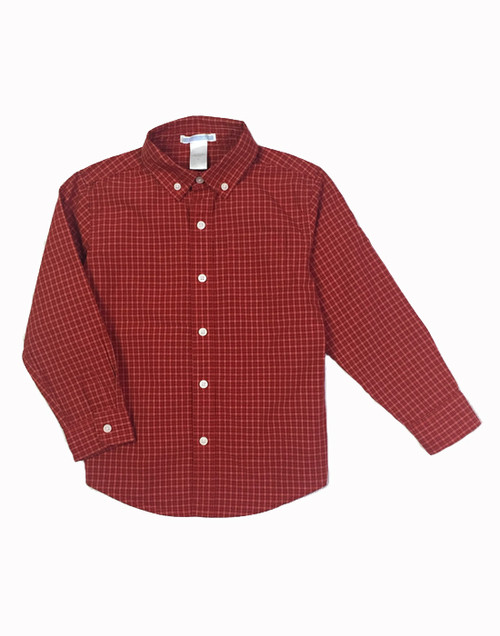 Red and Black Checkered Button Down Shirt, Little Boys