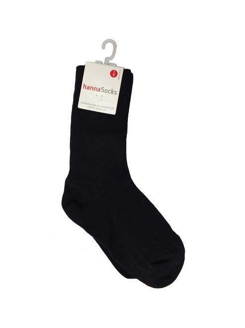 Black Ribbed Socks