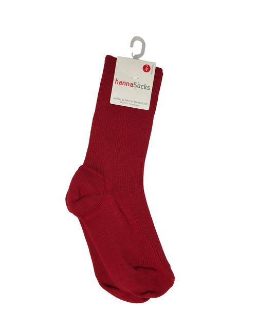 Red Ribbed Socks