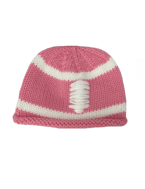 Pink Football Beanie, Baby Girls