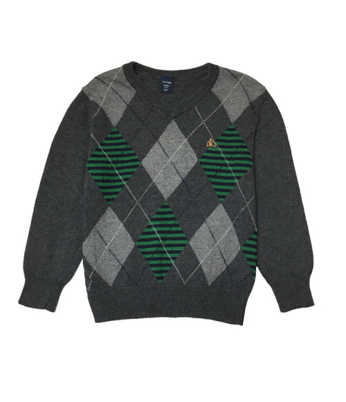 Gray Diamond Argyle Sweater
