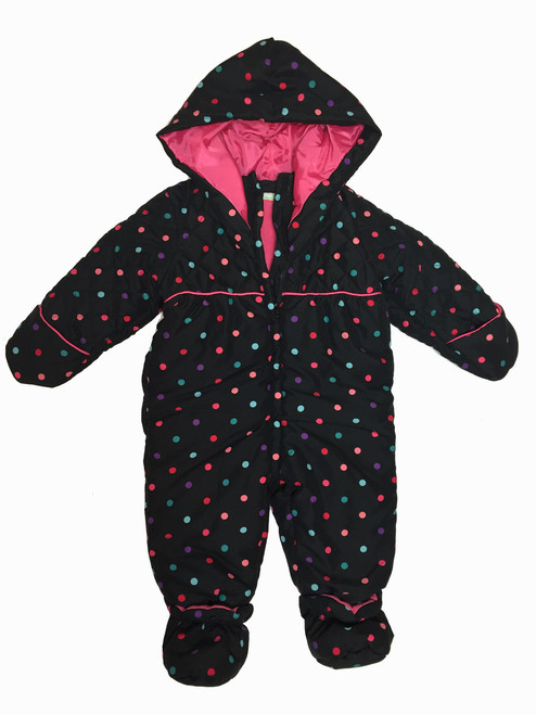 Polka Dots Snowsuit, Baby Girls