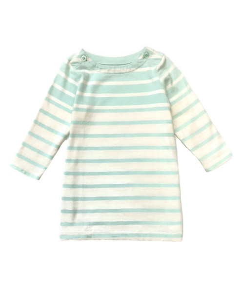 Mint Striped Dress, Baby Girls