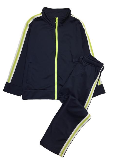Little Boy Navy/Green Tracksuit