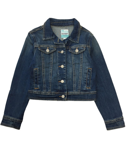 Girls Dark-Wash Denim Jacket