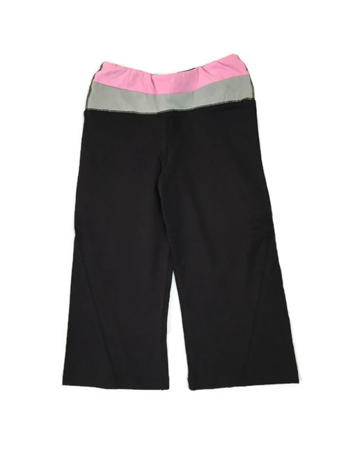 Black Pink and Gray Yoga Capris, Girls