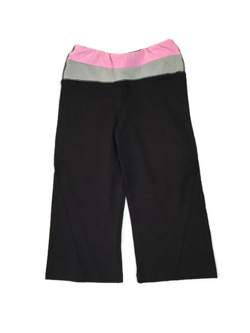 Black Pink and Gray Yoga Capris, Girls
