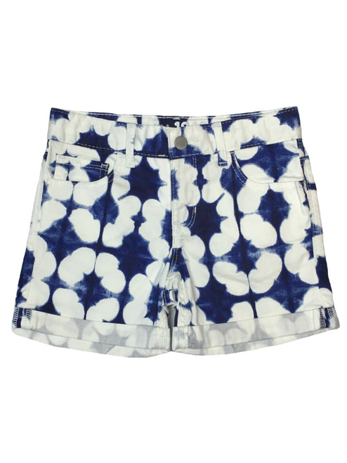 Tie-Dye Print Denim Shorts, Big Girls