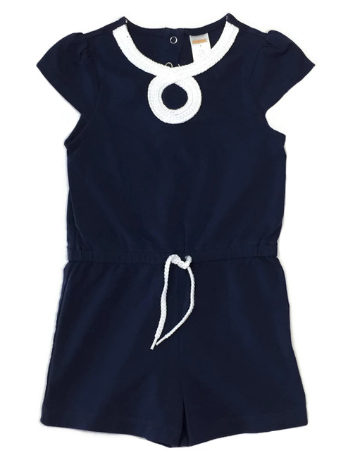 Navy Romper, Little Girls