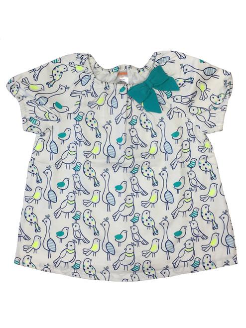 Bluebird Print Top, Toddler Girls